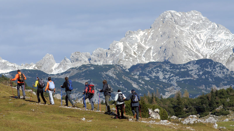 Adventure holidays in Slovenia. Trekking on Velika planina.